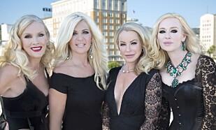 HOLLYWOOD-FRUE: Her er Maria sammen med resten av de svenske Hollywood-fruene fra høsten 2015. FOTO: All over press