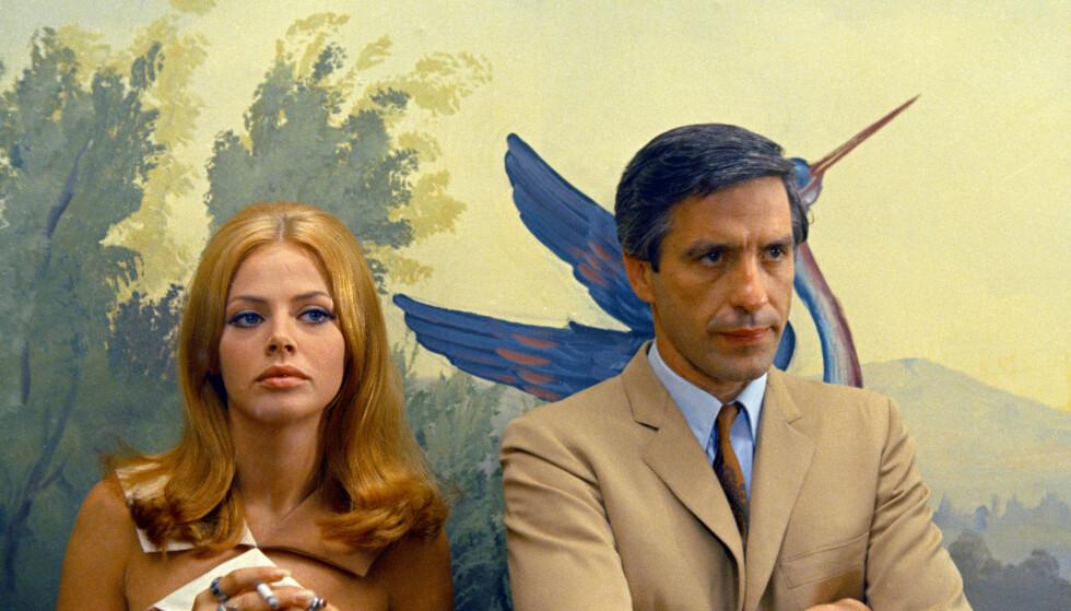 BRITT EKLAND: Bond-stjernen fyller 76 år i år! Her fra filmen Machine Gun McCain med John Cassavetes. Foto: Scanpix