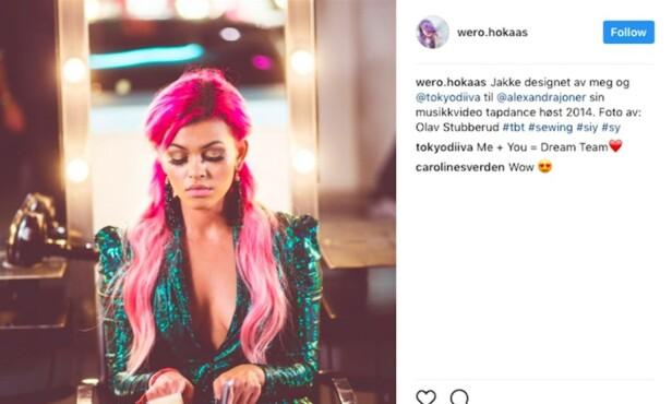 <strong>DESIGN:</strong> I 2014 designet hun denne jakken til musikkvideoen til Alexandra Joner. Skjermdump: Instagram
