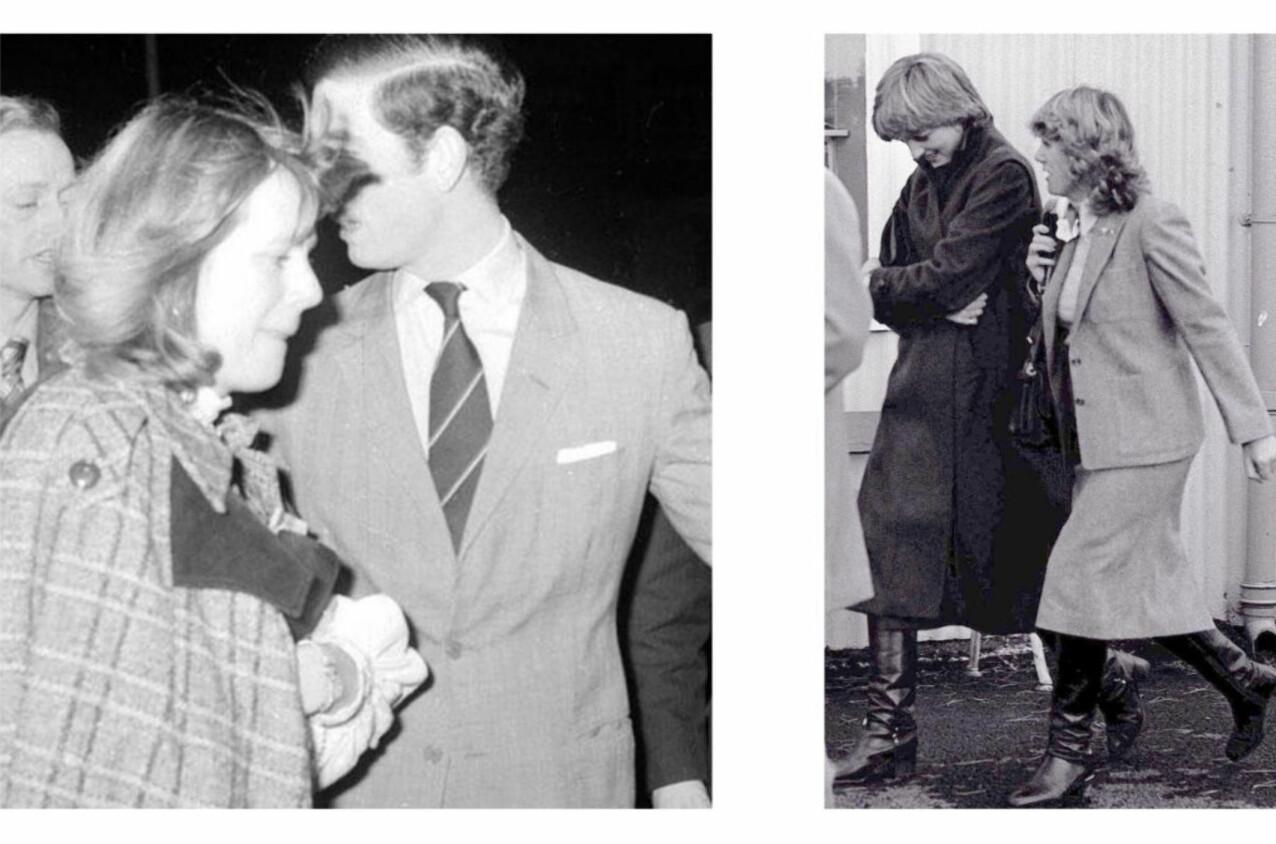 - TRE I EKTESKAPET: Den britiske prinsen møtte Camilla allerede på begynnelsen av 70-tallet, men ble tvunget til å gifte seg med den nesten 13 år yngre sosietetskvinnen Diana Spencer. Bildet til venstre er tatt i 1975, bildet til høyre av Diana og Camilla er tatt i 1980. Foto: NTB