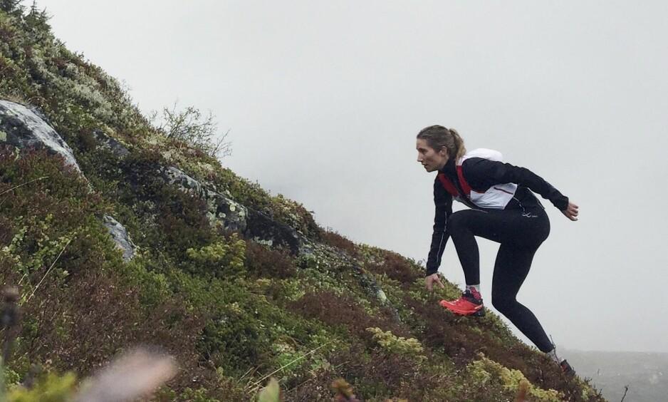 LØPING: Charlotte gikk fra å være utrent til å delta på flere ultraløp. FOTO: Privat