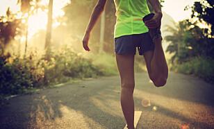 <strong>LITT TRENING:</strong> Litt trening er bedre enn ingenting. Hva med å gå en tur eller ta en liten joggetur? FOTO: NTB scanpix