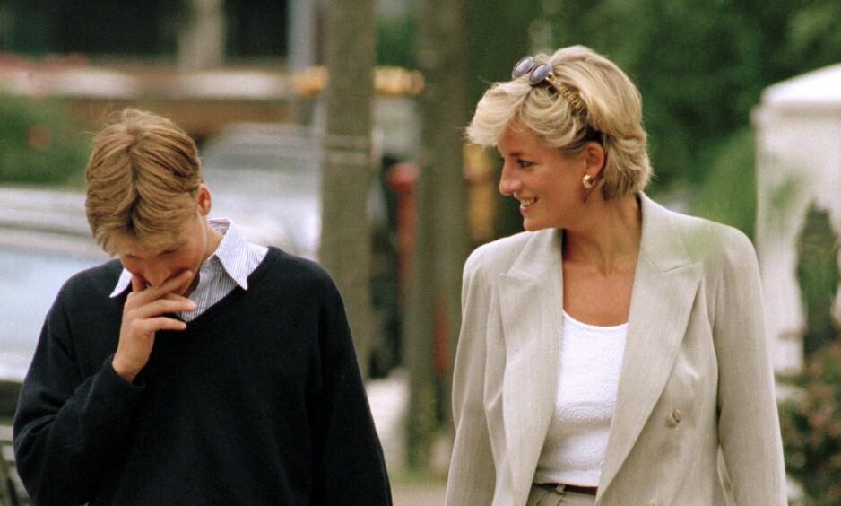 PRINSESSE DIANA: Prins William avslører i dokumentar at mamma prinsesse Diana overrasket ham med å invitere tre supermodeller til Kensington Palace da han var i begynnelsen av tenårene. Foto: NTB Scanpix