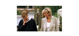 Diana overrasket prins William med tre supermodeller på Kensington Palace