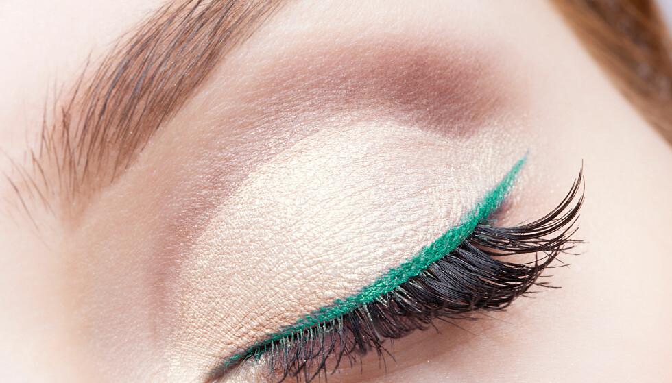 <strong>FARGET EYELINER:</strong> Ønsker du å fremheve øynene dine? Da bør du prøve en farget eyeliner. FOTO: NTB Scanpix
