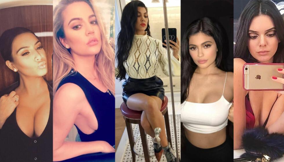 POPULÆRE: Kim, Khloé, Koutney, Kylie og Kendall er alle svært populære - verden over. FOTO: NTB scanpix