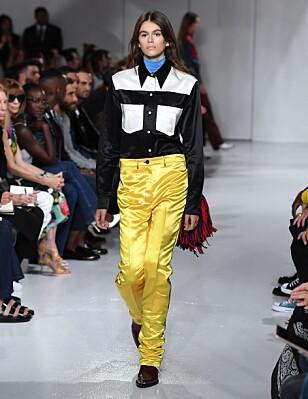 <strong>KAIA GERBER:</strong> 16-åringen går sin første catwalk for Calvin Klein under New York Fashion Week.
