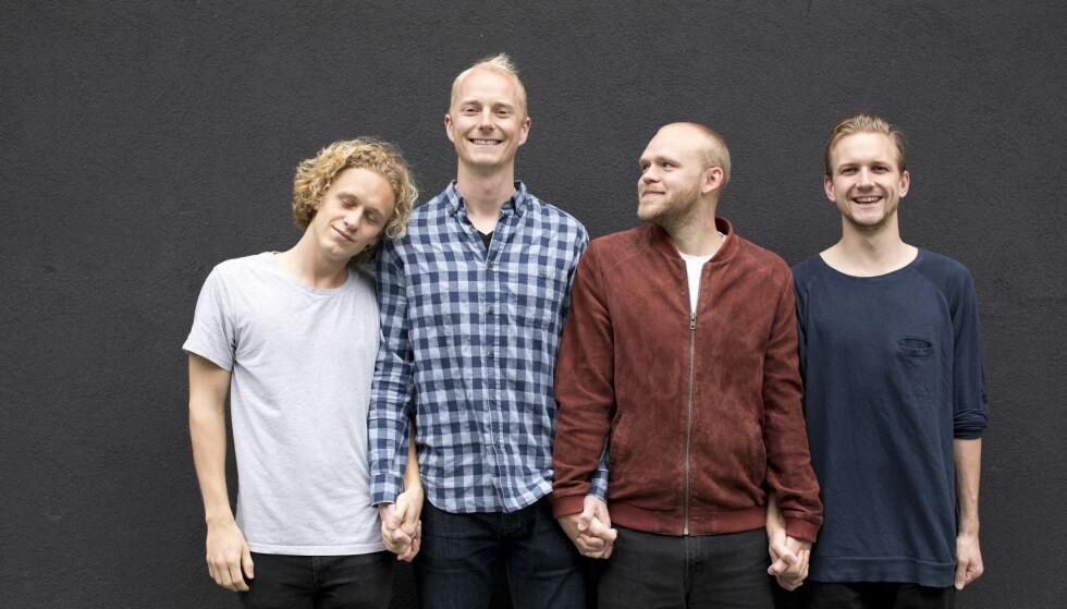 SKRÅBLIKK: I TV-serien «Hvite gutter» møter vi Johannes, Eirik, Torjus og Jørgen. Foto: Ida Hvattum