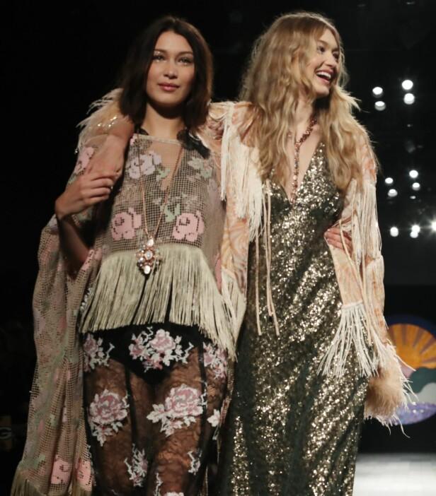 Gigi Hadid (t.h.) fikk god hjelp og støtte av søsteren Bella Hadid. FOTO: NTB Scanpix
