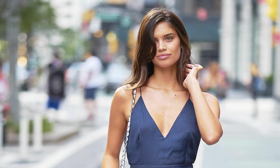SEXY: Vi i KK-redaksjonen synes den portugisiske modellen Sara Sampaio (26) er sexy på en naturlig måte! Foto: NTB Scanpix