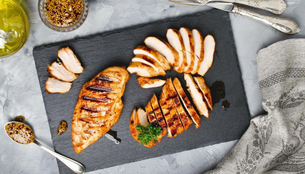 KYLLING OG KALKUN: Matvarer som kylling og kalkun kan gi deg en skikkelig humør-boost. FOTO: NTB Scanpix
