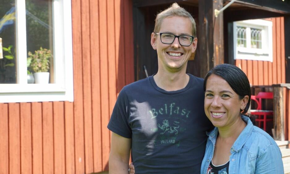 EKSTREMT TIDLIG PENSJON: Ved å spare mye penger på kort tid, kunne Oskar og Maribel slutte å jobbe for godt. Foto: Privat