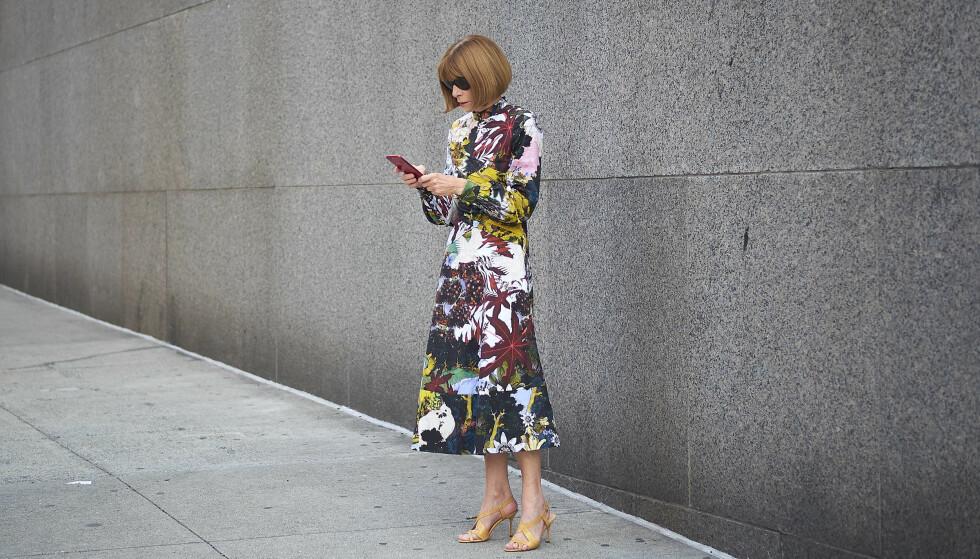ANNA WINTOUR: Vogue-redaktøren mener britiske designere fremdeles bruker modeller som er for tynne. FOTO: NTB Scanpix