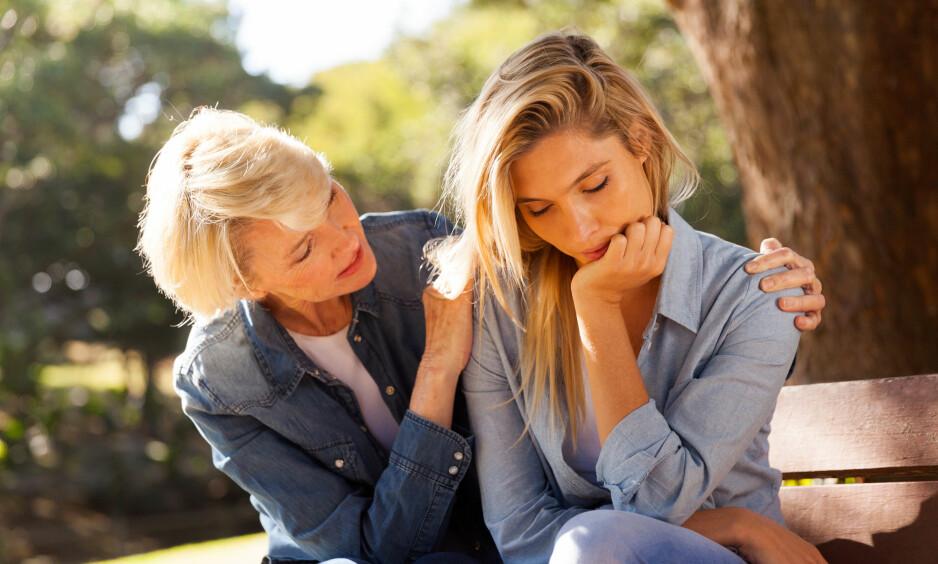MOR OG DATTER: Hva gjør du når du ikke orker å ha kontakt med moren din? FOTO: NTB Scanpix