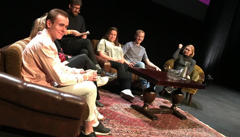 FARVEL MED SKAM-GJENGEN: Under Nordiske Seriedager på Vulkan i Oslo fikk fansen tatt farvel med noen av skuespillerne i Skam. Foto: Malini Gaare Bjørnstad