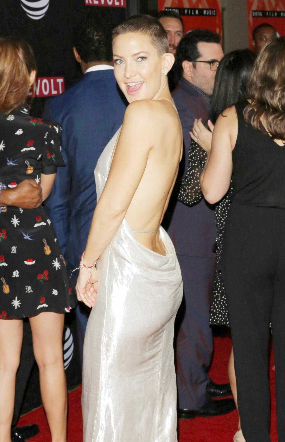 EDGY: I juli klippet Kate Hudson bort sine lange lokker. Foto: NTB Scanpix