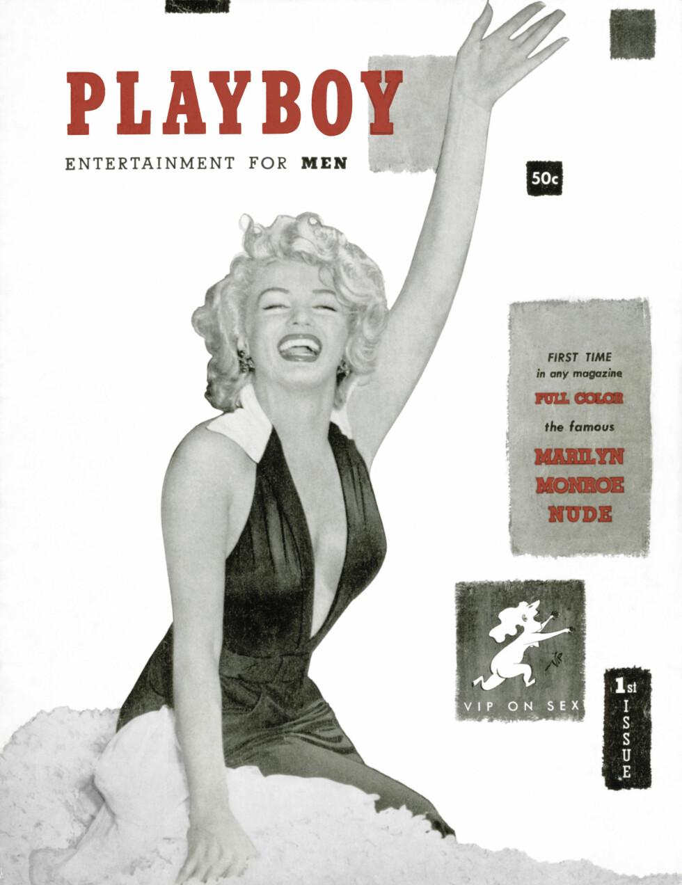 FØRSTEUTGAVE: Med Marilyn Monroe kom ut i desember 1953 og i et beskjedent opplag på 54.000 som ble revet vekk fra hyllene.