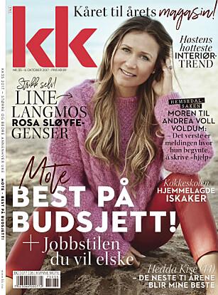 STRIKKEOPPSKRIFT: Du finner oppskriften på Line Langmos rosa sløyfe-genser i KK35.