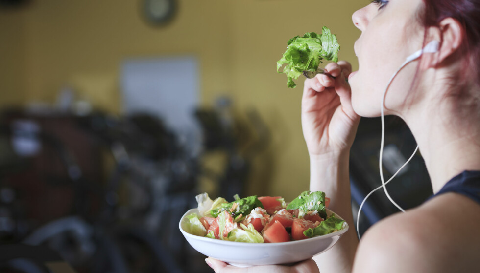 NED I VEKT: Treningen hjelper på litt, men det er kostholdet som er det viktigste om du skal ned i vekt. FOTO: NTB Scanpix