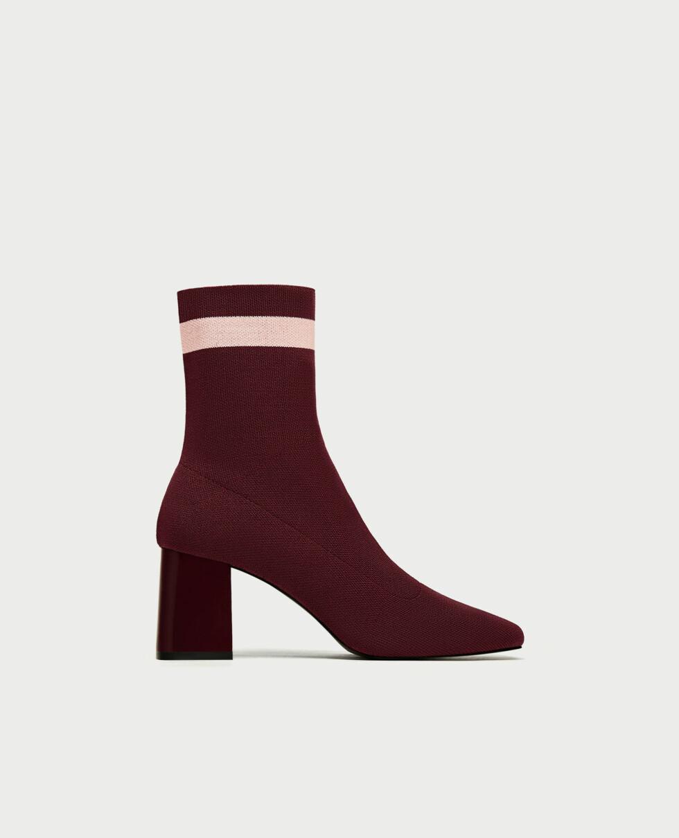 Sko fra Zara  499,-  https://www.zara.com/no/no/trf/sko/h%C3%B8yh%C3%A6lt-stripet-skolett-med-smalt-skaft-c269216p4620602.html