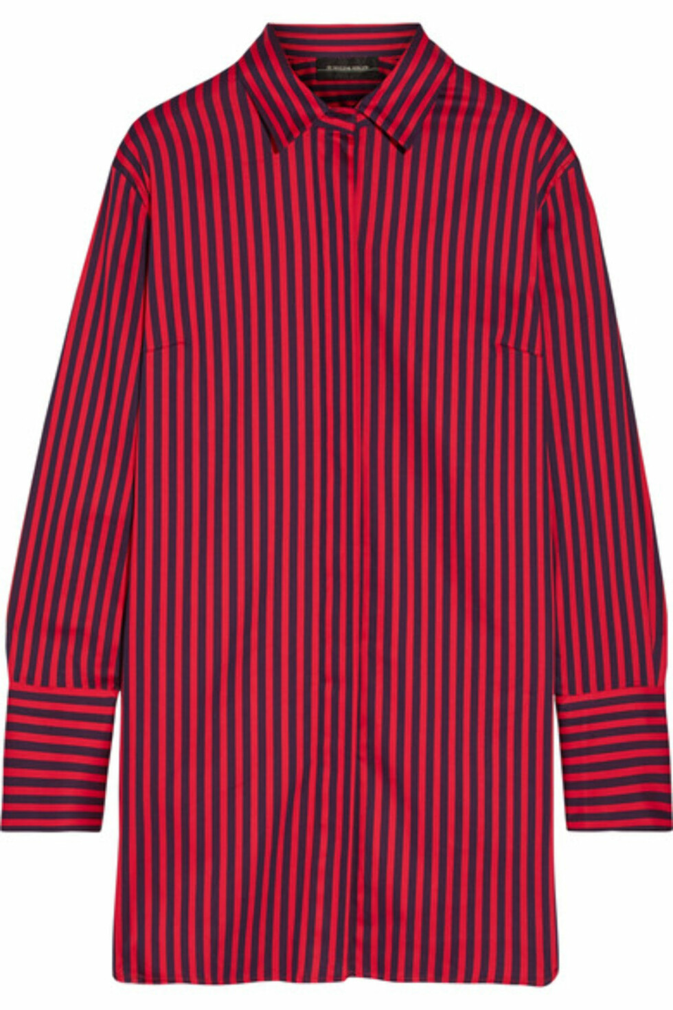 Skjorte fra By Malene Birger via Net-a-porter.com |2060,-| https://www.net-a-porter.com/no/en/product/930910/by_malene_birger/frincamma-striped-stretch-cotton-shirt
