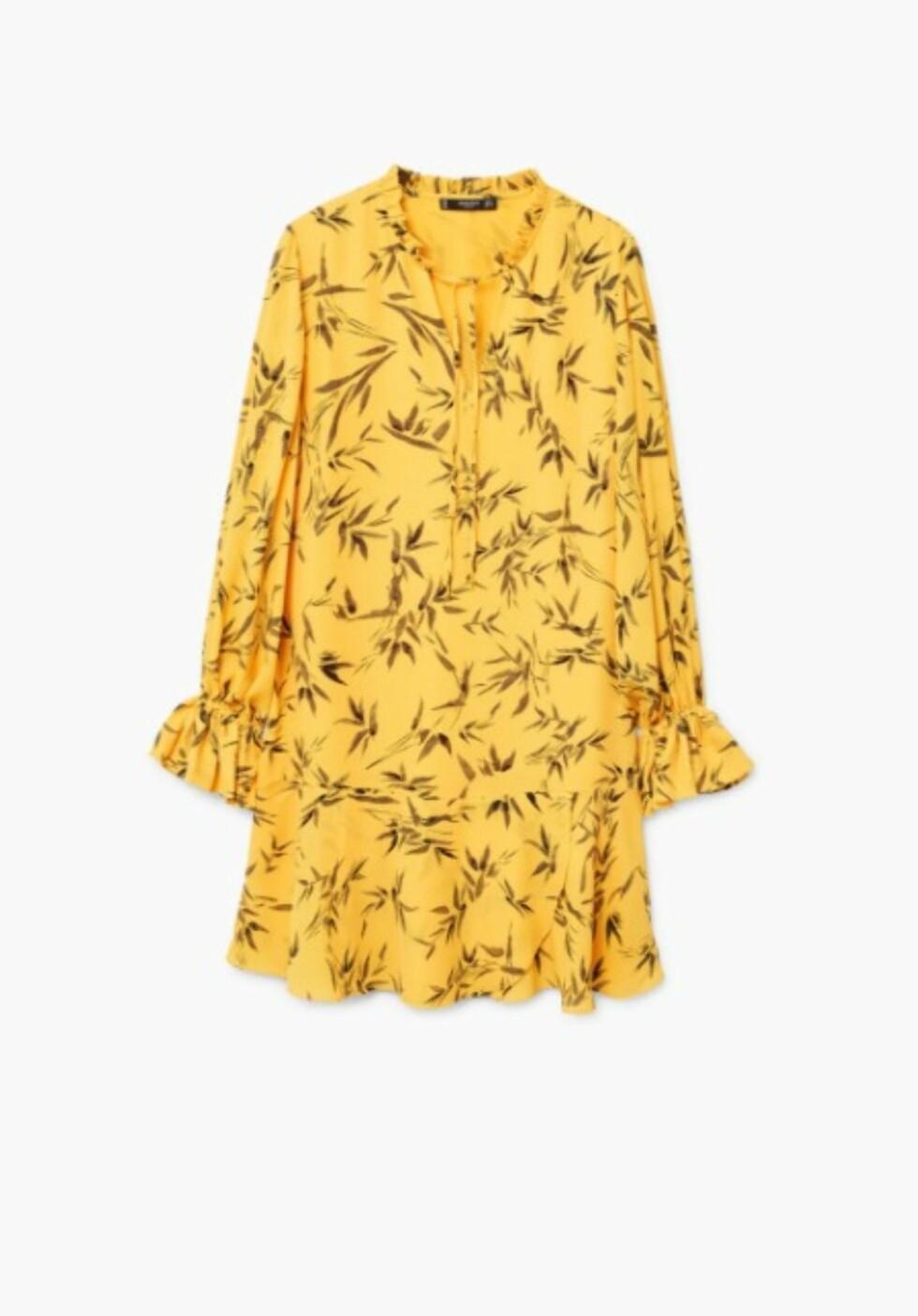 Kjole fra Mango |349,-| https://shop.mango.com/no/damer/kjoler-kort/m%C3%B8nstret-kjole-med-rysjer_13065698.html?c=15&n=1&s=prendas.familia;32&ts=1507547918645
