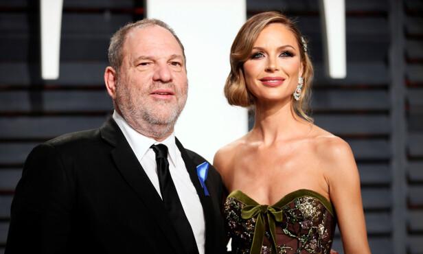 FORLATER EKTEMANNEN: Georgina Chapman giftet seg med filmprodusenten Harvey Weinstein i 2007. De har to barn sammen. Hun har nå tatt ut skilsmisse mot ektemannen. Foto: NTB Scanpix
