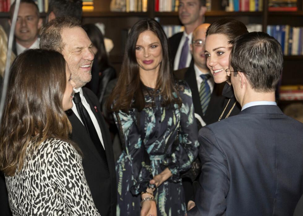 ROYALT MØTE: Harvey og kona møtte hertugparet Kate og William i 2014. Foto: NTB Scanpix