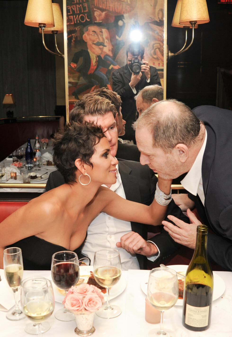 HALLE BERRY: Skuespiller Halle Berry og Harvey Weinstein i 2010. Foto: NTB Scanpix