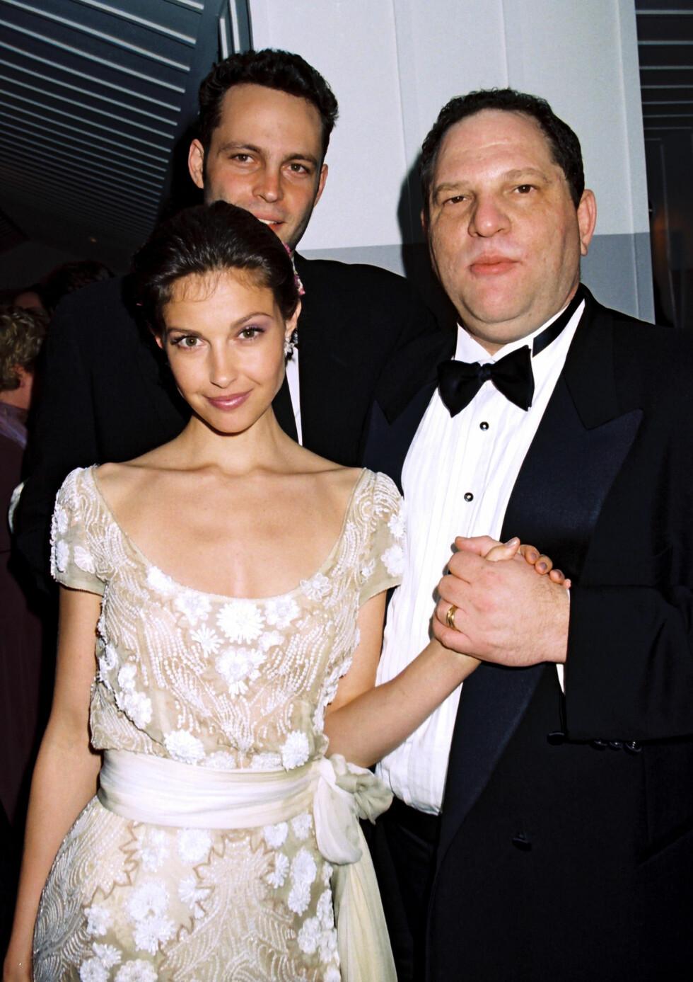 ASHKEY JUDD: For over 20 år siden hadde skuespiller Ashley Judd et ubehagelig møte med Weinstein i forbindelse med hva hun trodde skulle være et frokostmøte på Peninsula Beverly Hills hotel. Dette bildet er fra 1997. Foto: NTB Scanpix