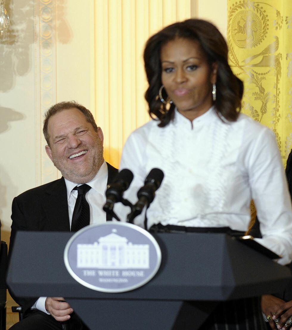 MICHELLE OBAMA: Den tidligere førstedamen er sjokkert over det som nå kommer frem i Weinstein-saken. Filmprodusenten bidro i ektemannen Obamas kampanje. Foto: NTB Scanpix
