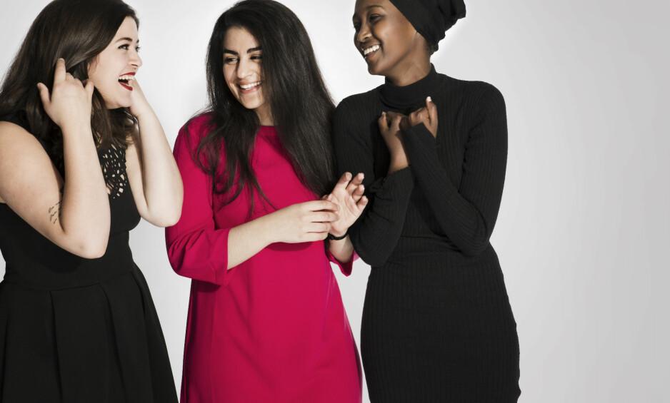 DE SKAMLØSE JENTENE: Egne erfaringer og andre jenters historier om å bli påført skam, har blitt til boka «Skamløs». - På den ene siden er vi ikke gode nok arabere eller muslimer, og på den andre blir vi aldri norske nok, forklarer de til KK. FOTO: Maria Gossé