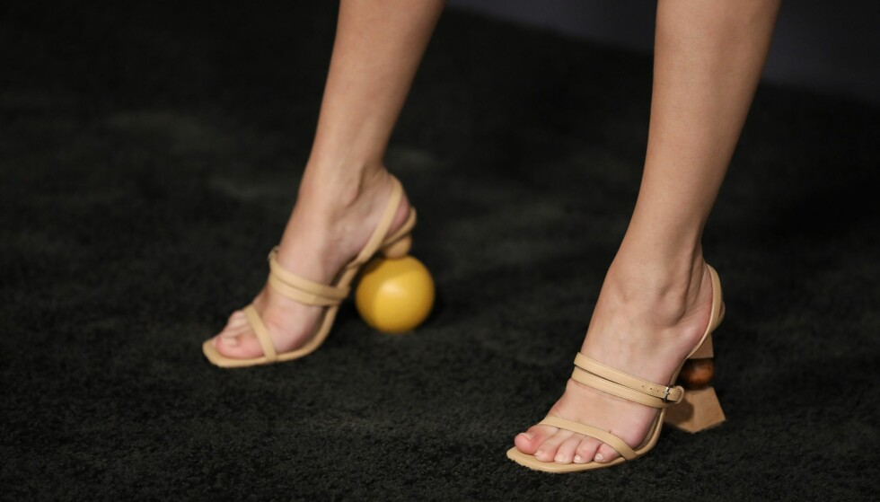 SJEKK DE SKOENE: Legg merke til de spesielle hælene. Foto: Scanpix