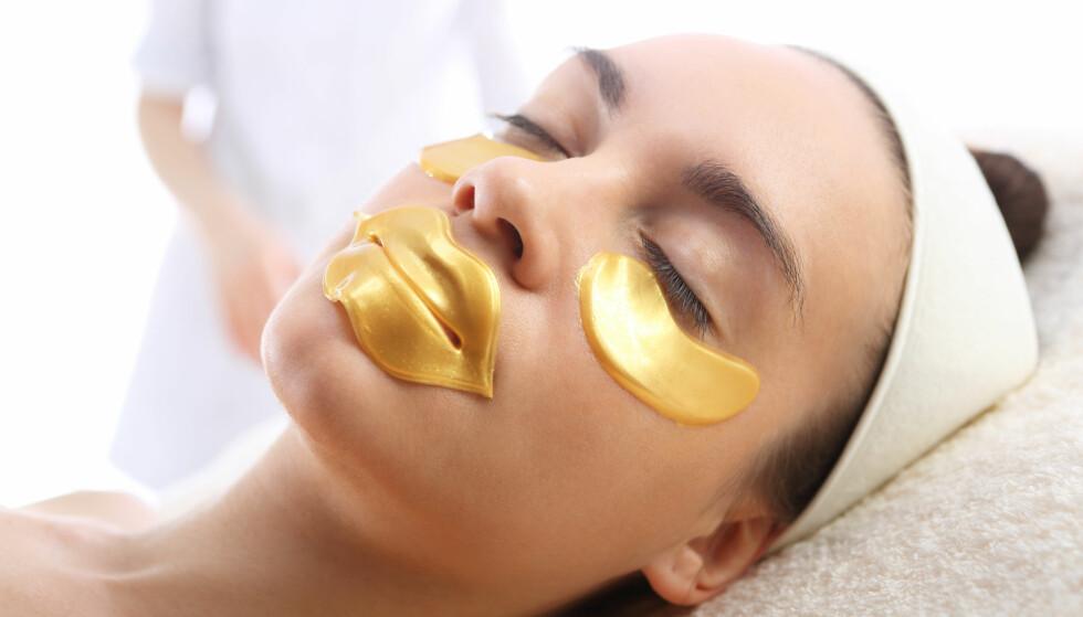 <strong>SLIK KAN DE SE UT:</strong> En leppemaske kommer gjerne i en gull-farget variant som du ser her. Foto: Scanpix