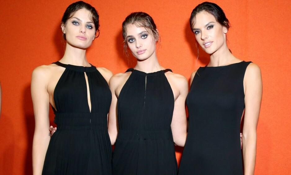 DEN LILLE SORTE: Designer Alberta Ferretti hadde kledd opp flere av modellene sine i den lille sorte under moteuken i høst. Foto: Scanpix
