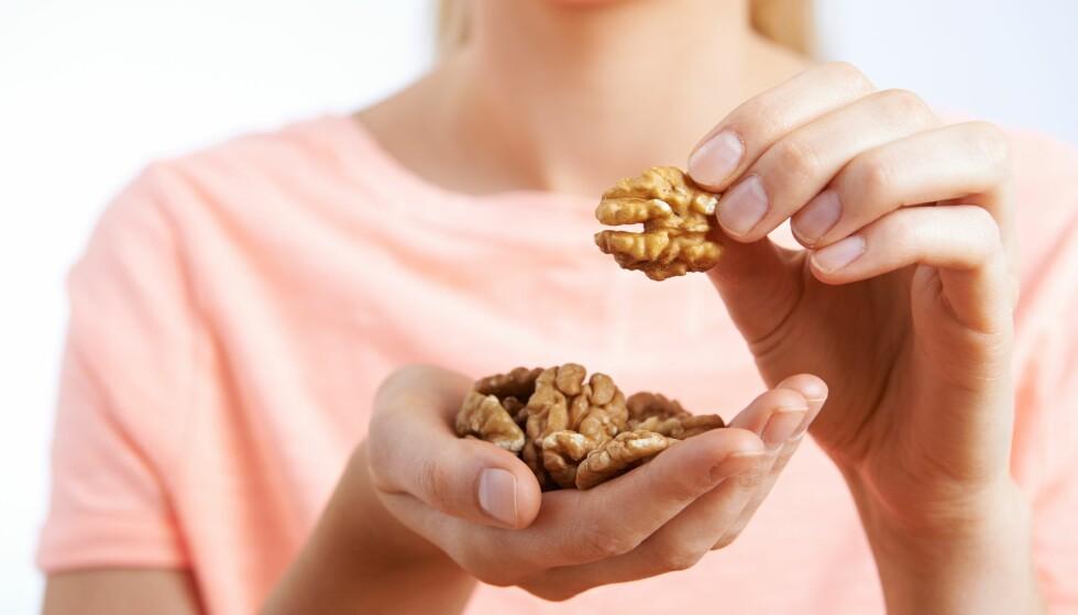 VALNØTTER: En amerikansk studie viser at disse muligens gir bedre metthetsfølelse enn andre matvarer. Foto: NTB Scanpix