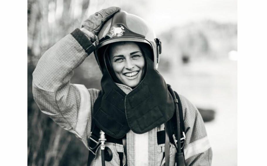 BRANNKONSTABEL: 28 år gamle Thea Vagle fra Larvik ble innstilt som nummer én da hun søkte jobb i brannvesenet i Larvik. FOTO: Mona Moe Machava