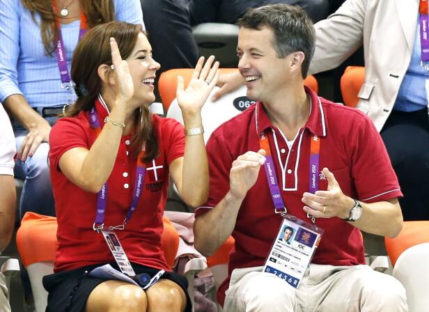 REUNION: I 2012 var kronprinsparet på plass under Sommer-OL i London - 12 år etter at de møtte hverandre under samme arrangement i Sydney. Foto: NTB Scanpix