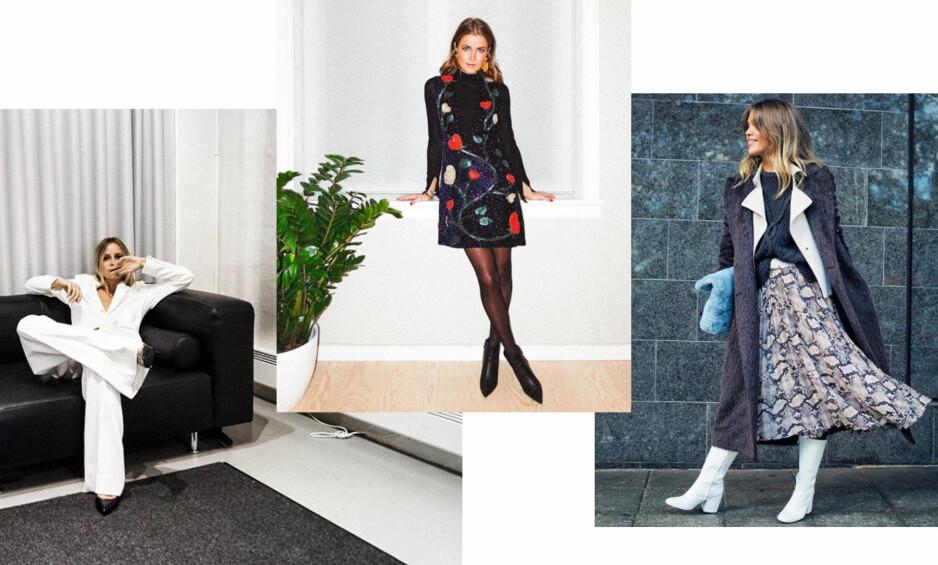 FESTMOTE: Celine Aagaard, Nina Sandbech og Gine Margrethe Larsen deler hva de kommer til å gå for i år. Foto: Skjermdump fra Instagram @celineaagaard_ @ninasandbech @ginemargrethe