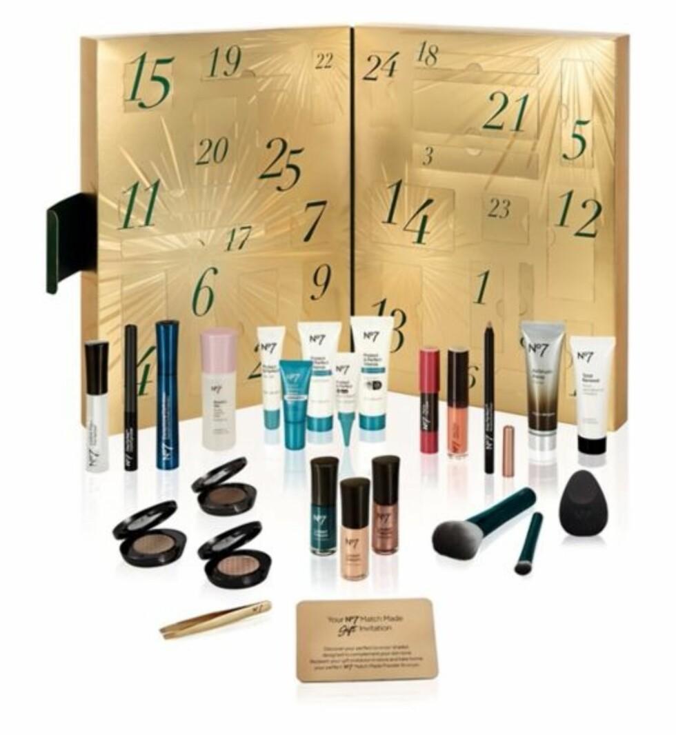 Adventskalender fra No7 via Boots.com |431,-| http://www.boots.com/no7-beauty-treats-calendar-10237632?affwin&awc=2041_1510735019_f6a46bb927f9f1376e1ee5104b29e790
