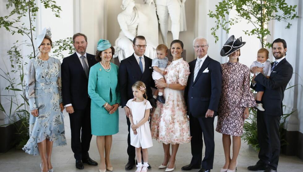 FAMILIEGLEDE: Det svenske kongeparet kan snart juble over å få barnebarn nummer syv! Foto: NTB Scanpix