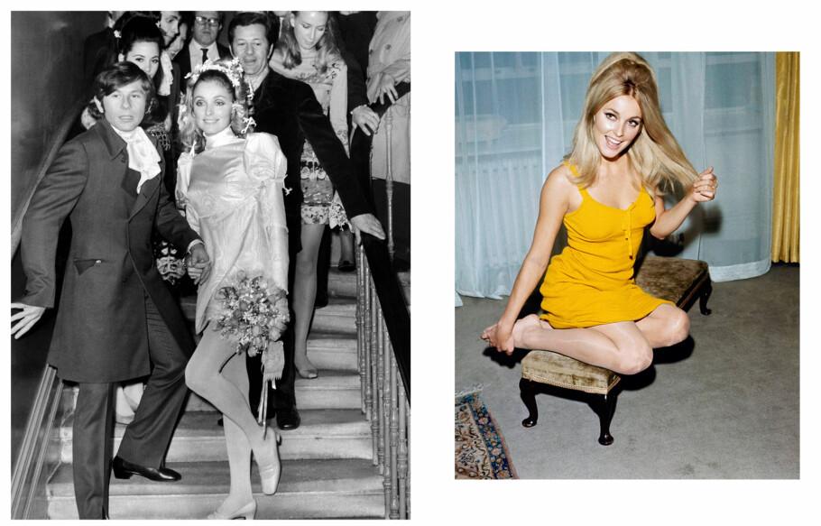 SHARON TATE: Den unge skuespilleren ble ansett som et stjerneskudd i Hollywood, og hadde en lovende karriere foran seg. Hun var gift med regissør Roman Polanski (t.v.). De giftet seg i London i januar 1968 - halvannet år senere var hun død. Foto: NTB Scanpix