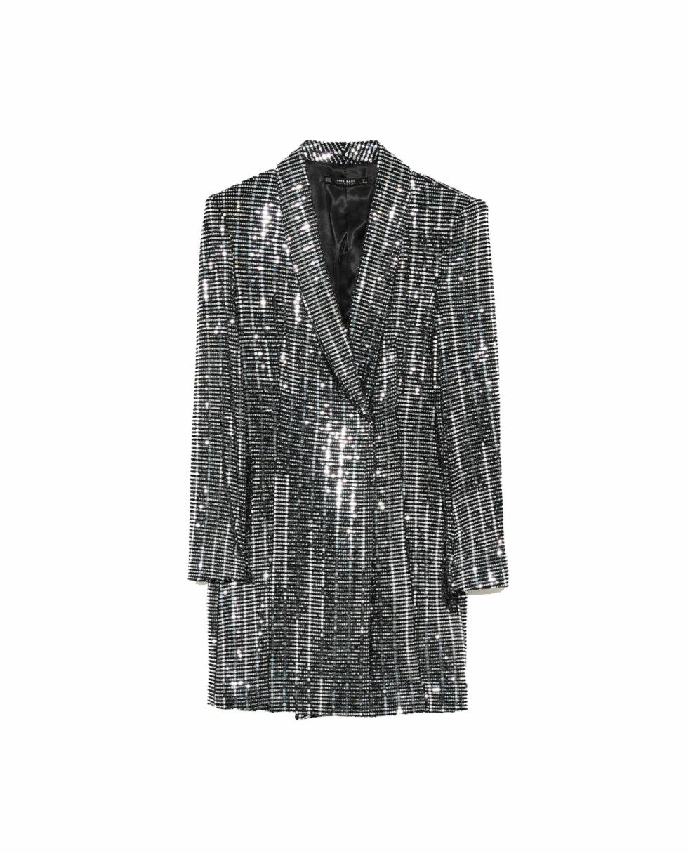 Blazerkjole fra Zara |699,-| https://www.zara.com/no/no/metallfarget-blazerkjole-p08570560.html?v1=5232512&v2=733885