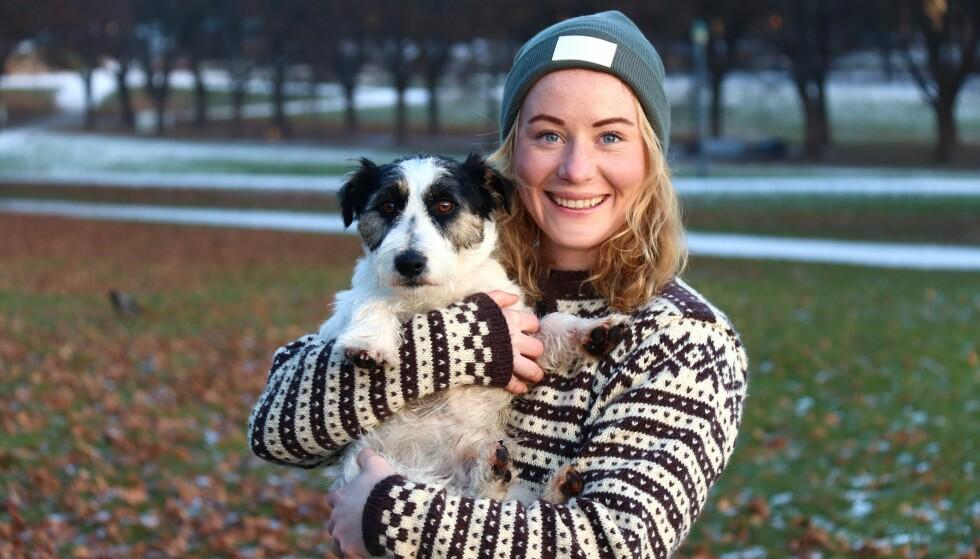 SPISEFORSTYRRELSE: Spesielt enslige har god nytte av å ha hund, noe Ingunn Haukanes (26) ved alt om. FOTO: Ida Bergersen
