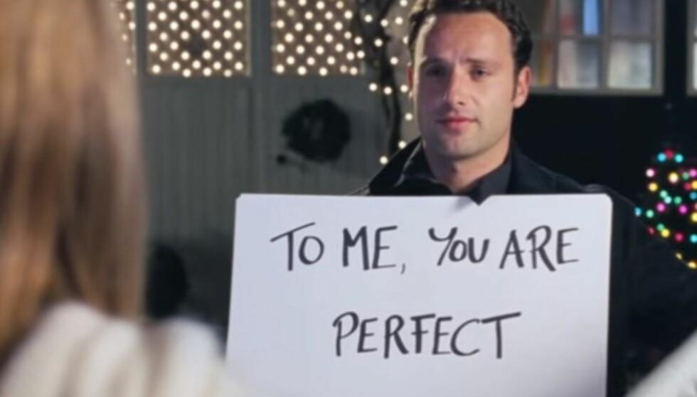 EGEN HÅNDSKRIFT: Håndskriften vi ser i filmen, er faktisk Andrew Lincoln sin håndskrift. Foto: Love Actually