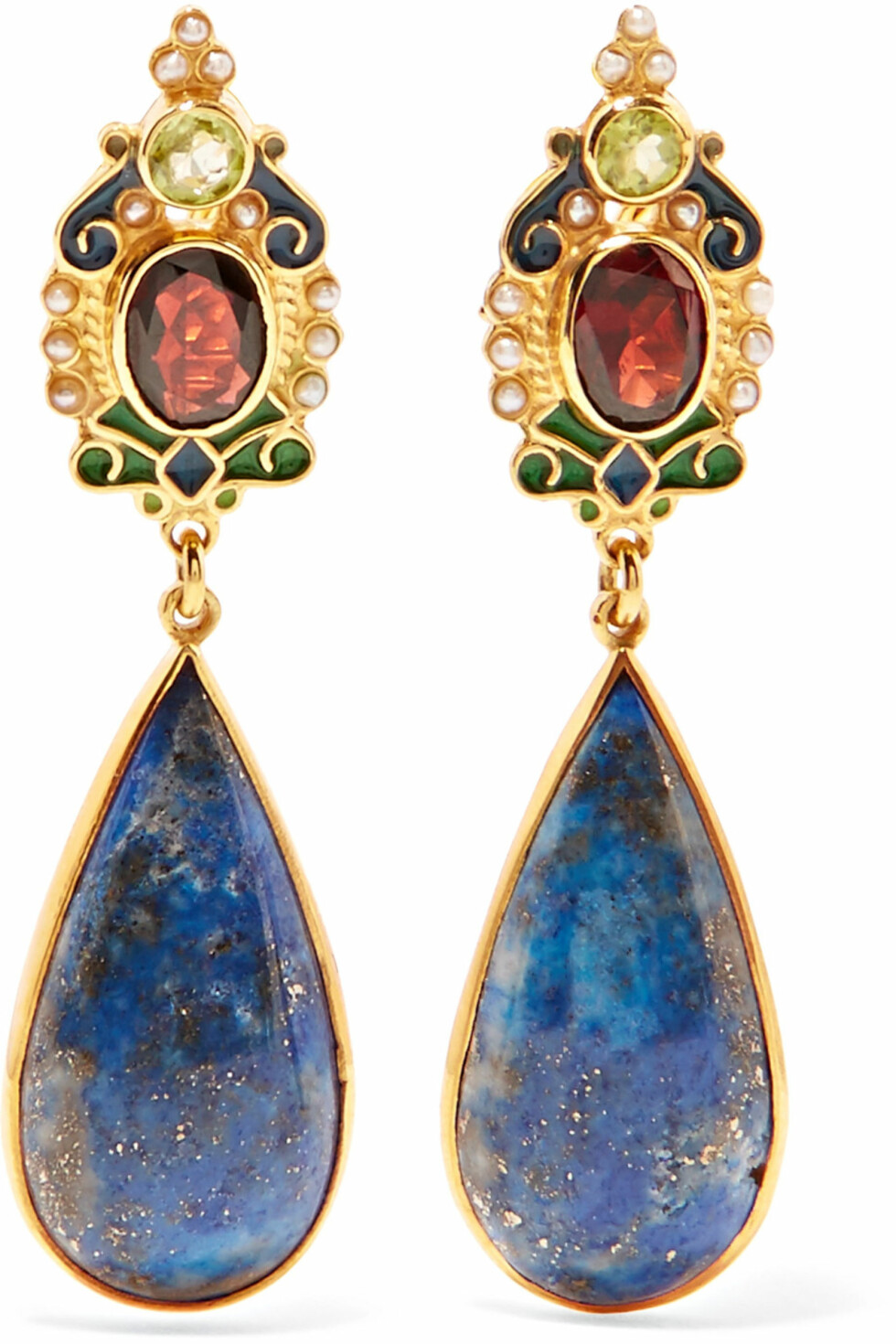 Øredobber fra Percossi Papi via Net-a-poter.com |4444,-| https://www.net-a-porter.com/no/en/product/1000097/percossi_papi/gold-plated--enamel-and-multi-stone-earrings