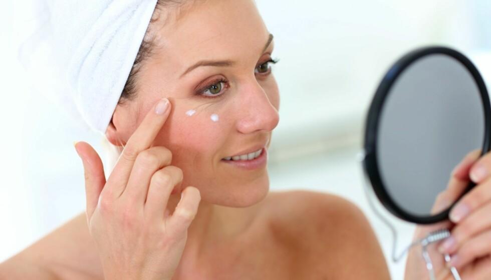 UNNGÅ RYNKER: De fleste av oss er opptatt av å holde rynkene unna. Og nei, det er ikke bare botox som gjelder! FOTO:NTB Scanpix