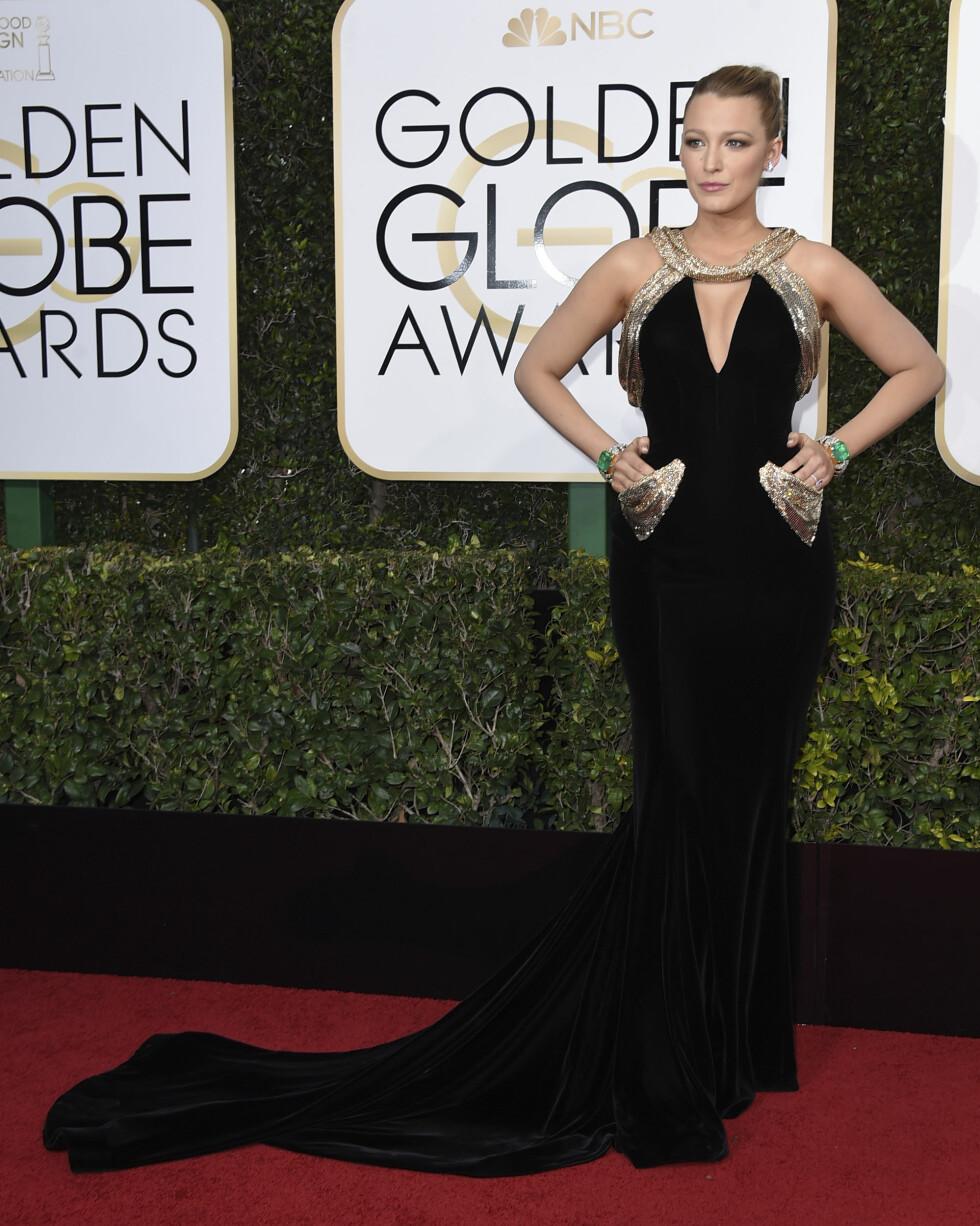 3. Da hun deltok på Golden Globe Awards med denne eksotiske vrien på den klassiske og svarte kjolen. Foto: NTB Scanpix