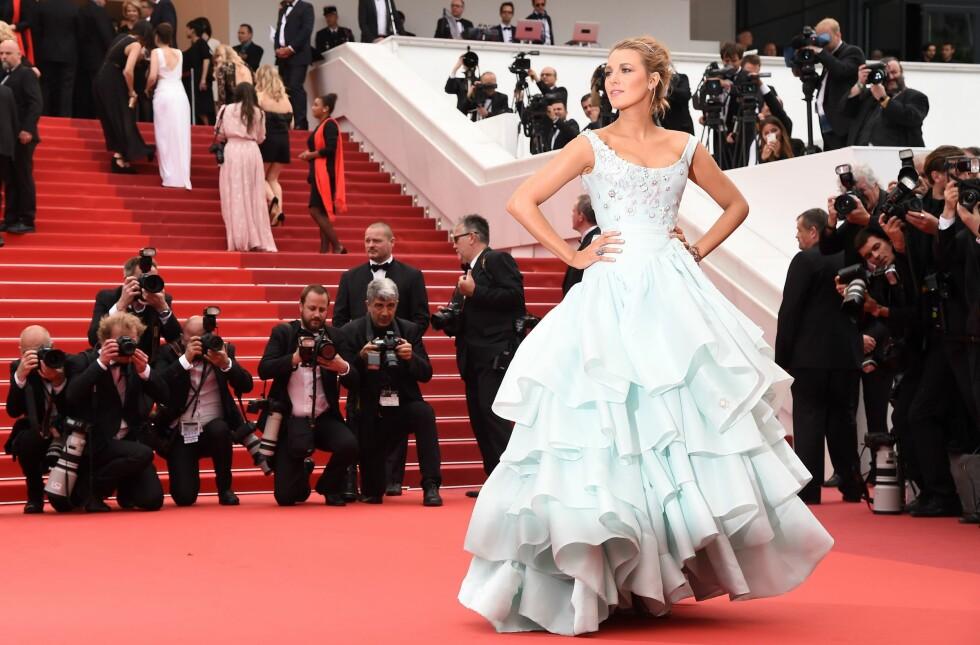 1. Da hun dukket opp på visningen til filmen «Ma Loute» under Cannes Filmfestivalen med denne drømmen av en kjole. Foto: NTB Scanpix