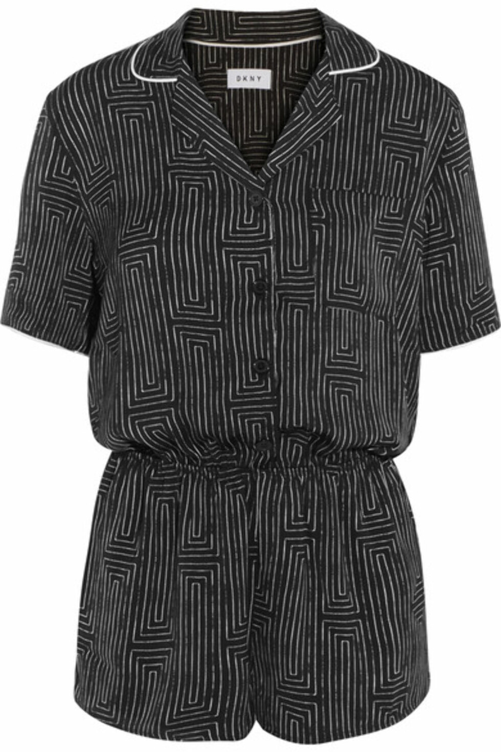 Pysj fra DKNY via Net-a-porter.com |500,-| https://www.net-a-porter.com/no/en/product/920993/DKNY/printed-washed-satin-playsuit
